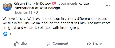 Kids2, Karate International of West Raleigh