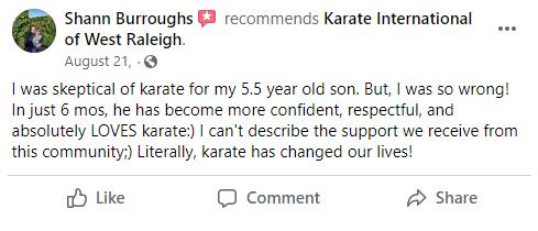 Kids3, Karate International of West Raleigh