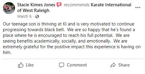 Teen1, Karate International of West Raleigh